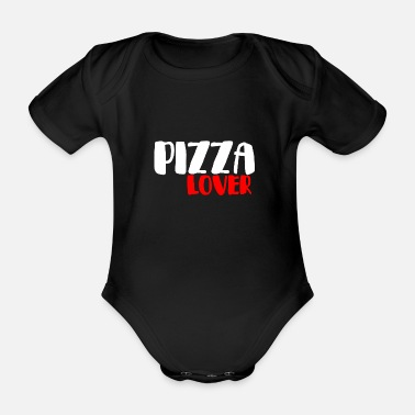 Salami PIZZA LOVER 2 FUN FUNNY DELICIOUS GIFT IDEA - Organic Short-Sleeved Baby Bodysuit