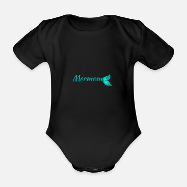 Christmas Mermom birthday party gift idea - Organic Short-Sleeved Baby Bodysuit