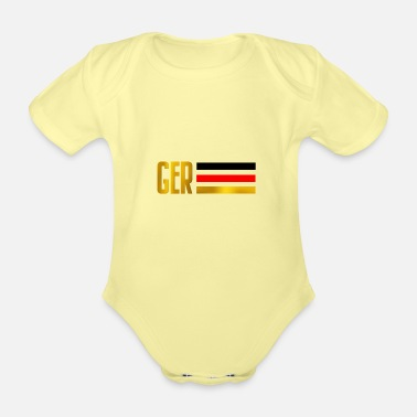 German German - Organic Short-Sleeved Baby Bodysuit