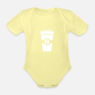 Siblings coffe to go - Organic Short-Sleeved Baby Bodysuit