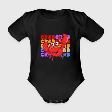 Retro Vintage Pop Art Dabbing Dab Crab Cancer - Organic Short-sleeved Baby Bodysuit