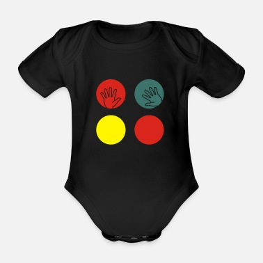Twister Twister board - Organic Short-Sleeved Baby Bodysuit