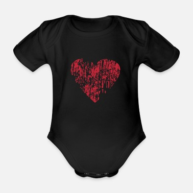 Distressed Distressed Heart - Baby Bio Kurzarmbody
