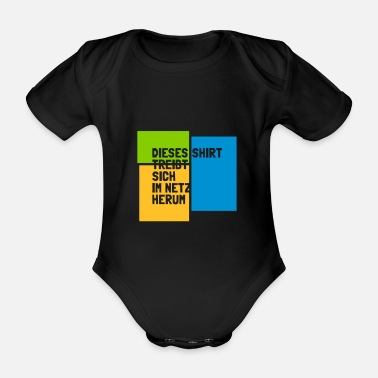 Net shirt in the net - Organic Short-sleeved Baby Bodysuit