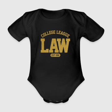 LAW College League Est 1991 Graphic - Organic Short-sleeved Baby Bodysuit