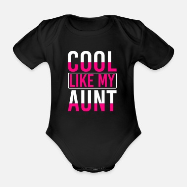Aunt Baby Aunt Auntie Godmother Birth Birthday Gift - Organic Short-sleeved Baby Bodysuit
