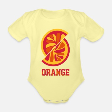 Orange Orange orange - Organic Short-Sleeved Baby Bodysuit