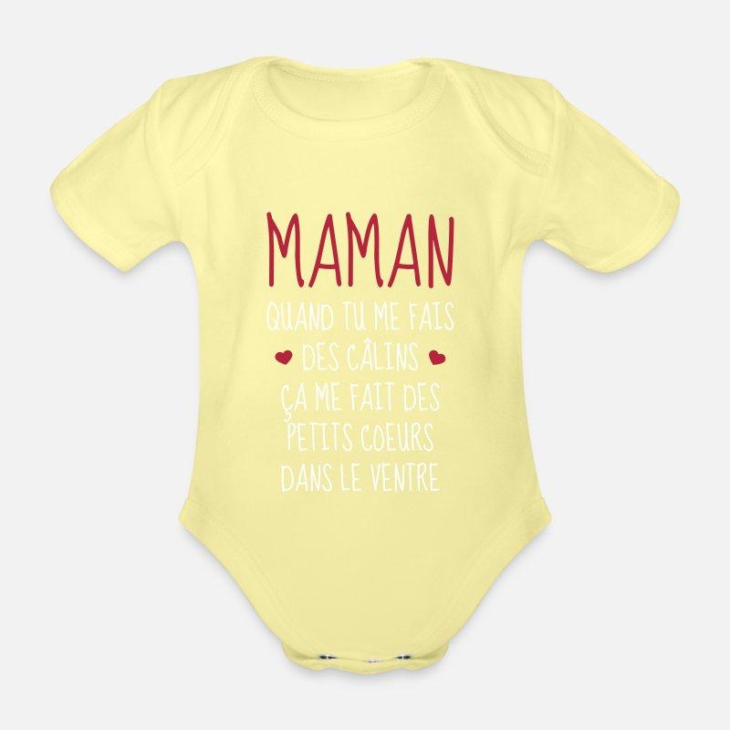 Spreadshirt Merci Maman F/êtes des M/ères Body B/éb/é Bio Manches Longues