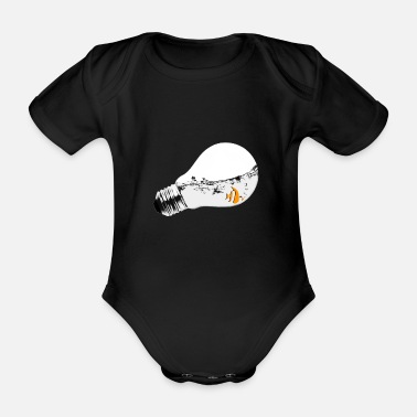 Seek Seek aquarium - Organic Short-Sleeved Baby Bodysuit