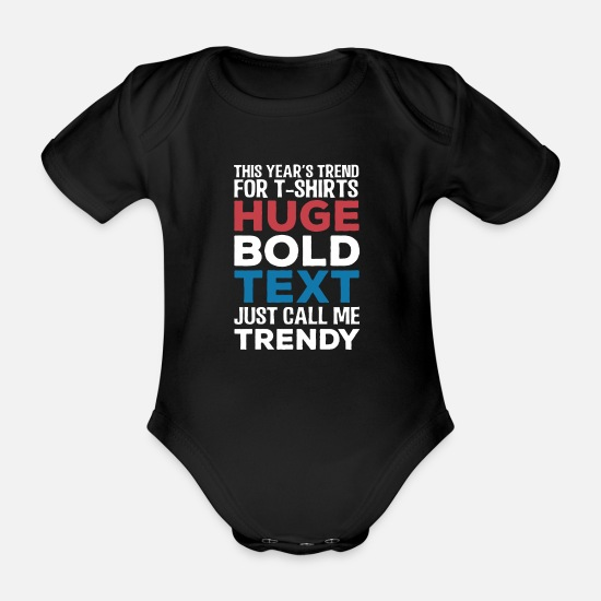 Gift Idea Baby Clothes - Call me Trendy - Organic Short-Sleeved Baby Bodysuit black