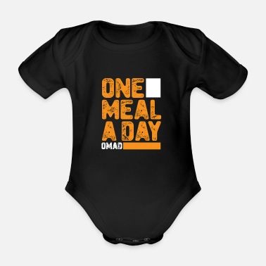 Meal Meal a day - Organic Short-Sleeved Baby Bodysuit