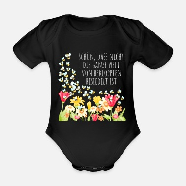 Germany Nice that not the whole world of the crazy - Organic Short-sleeved Baby Bodysuit