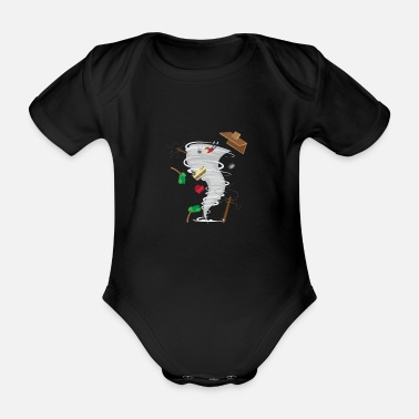 Tornado Awesome Tornado & Storm Chasing - Organic Short-sleeved Baby Bodysuit