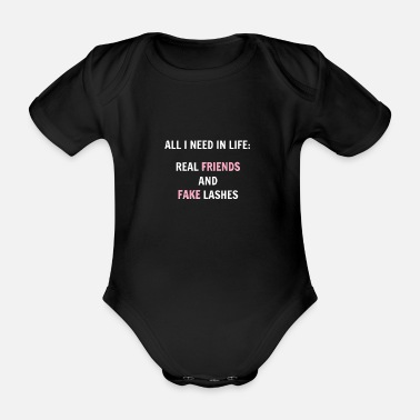 Eyebrows Makeup Artist Beautician Eyelash Make Up Stylist - Organic Short-Sleeved Baby Bodysuit