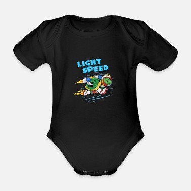 Speed Of Light Light Speed Light Speed Tortoise - Organic Short-Sleeved Baby Bodysuit