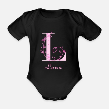 Name Day Lena name for daughter maiden name name day - Organic Short-Sleeved Baby Bodysuit