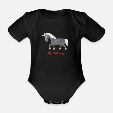 Pony pony - Organic Short-Sleeved Baby Bodysuit