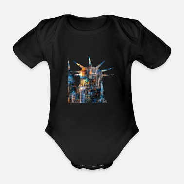 20120608 DSC 1330NYC Lady Liberty Downtown trans - Organic Short-Sleeved Baby Bodysuit