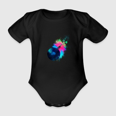 Bomb explosion colorful - Organic Short-sleeved Baby Bodysuit