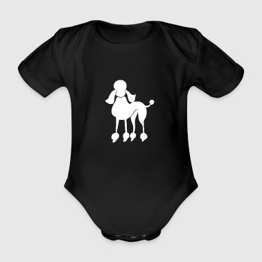 poodle - Organic Short-sleeved Baby Bodysuit