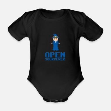 Sourcerer Developer Open Sourcerer Funny gift idea - Organic Short-Sleeved Baby Bodysuit