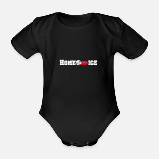 Birthday Baby Clothes - Home Office - Organic Short-Sleeved Baby Bodysuit black
