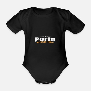 Marry Bachelor Party Shirt Porto Pre Wedding - Organic Short-sleeved Baby Bodysuit