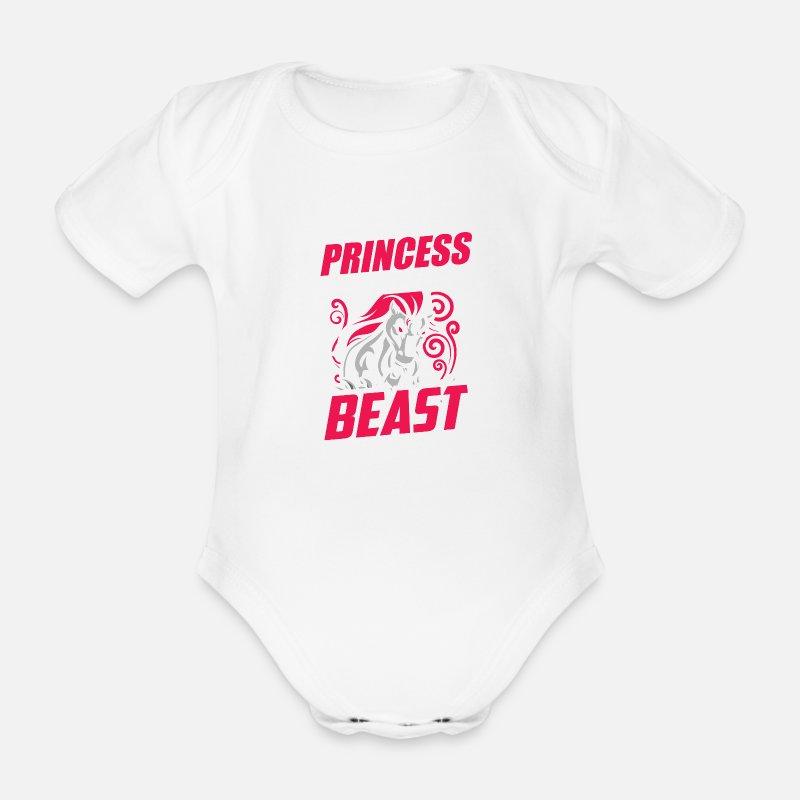 9539bdb6c Horse Rider Equestrian Gift · Prinsesse Økologisk kortermet baby-body - hvit