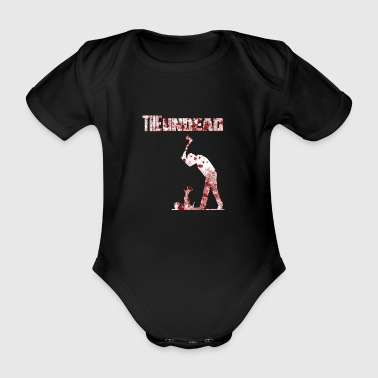 The undead bloody Halloween - Organic Short-sleeved Baby Bodysuit
