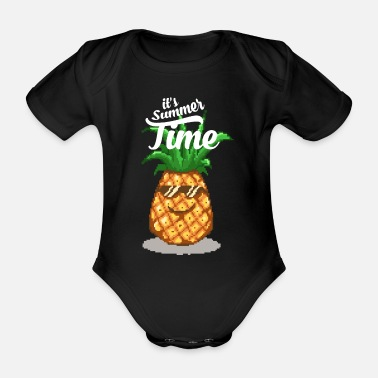 2f364a818 Pixelmaster-x Funny pineapple with sunglasses - Organic Short-Sleeved Baby  Bodysuit