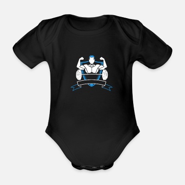 Cross Fit CROSS FIT SPORT GIFT TRAINING HOBBY GYM STUDIO - Baby bio-rompertje met korte mouwen