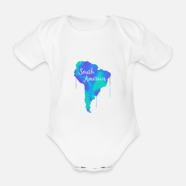 South America South America - Organic Short-Sleeved Baby Bodysuit
