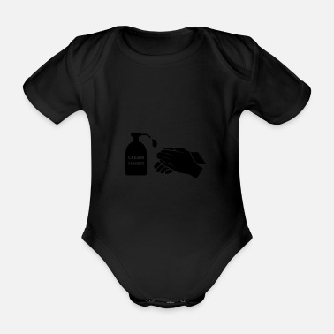 Clean What It Is clean hands - Organic Short-Sleeved Baby Bodysuit