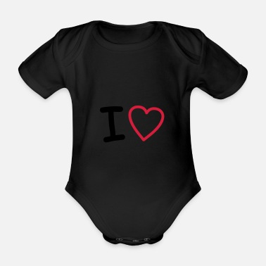 Sweetie i heart - Organic Short-Sleeved Baby Bodysuit
