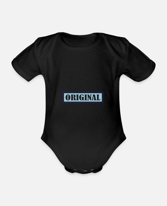 Indie Baby Bodysuits - original - Organic Short-Sleeved Baby Bodysuit black
