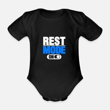 Best Friends Pause mode on gift saying - Organic Short-sleeved Baby Bodysuit