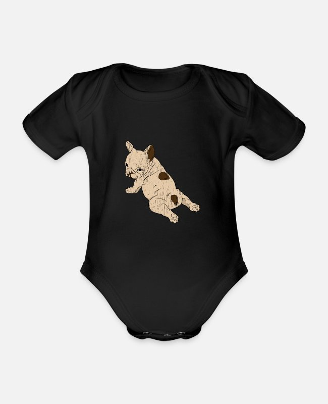Dachshund Baby Bodysuits - Dog Gift Pet Pet Puppy - Organic Short-Sleeved Baby Bodysuit black