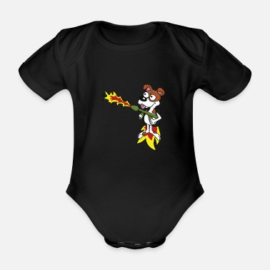 Awesome Awesome & Trendy Tshirt Designs Dog Flamethrower - Organic Short-Sleeved Baby Bodysuit