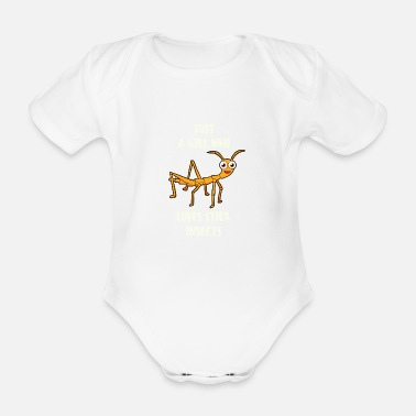 Insect Just A Girl Who Love Stick Insects Stick insect - Organic Short-Sleeved Baby Bodysuit
