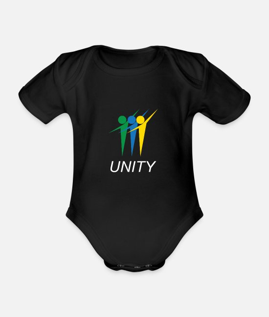 Quote Baby Bodysuits - Cool & Awesome Unity Tshirt Design Unity People - Organic Short-Sleeved Baby Bodysuit black