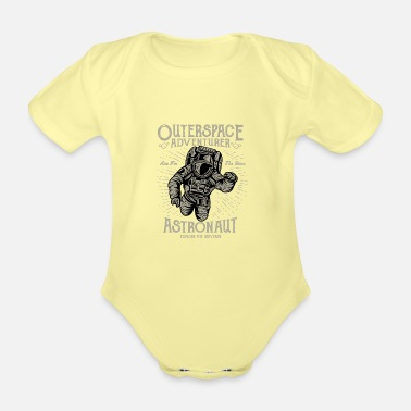 Outerspace Outerspace Adventurer Design - Organic Short-Sleeved Baby Bodysuit