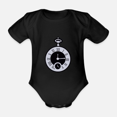 Pocket Watch pocket watch - Organic Short-Sleeved Baby Bodysuit