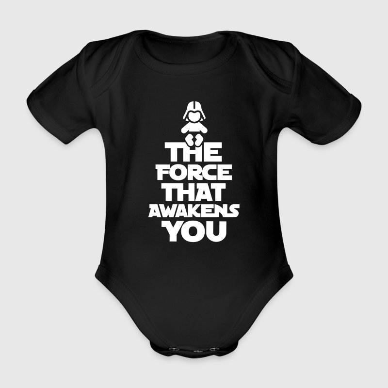 The force that awakens you - Organic Short-sleeved Baby Bodysuit