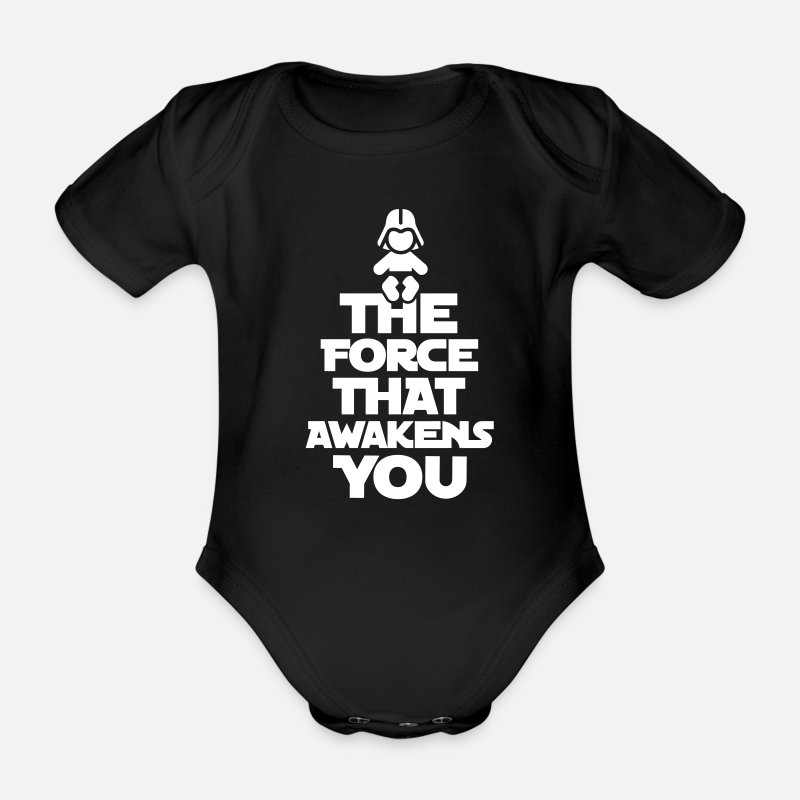 Darth Baby Clothing - The force that awakens you - Short-Sleeved Baby Bodysuit black