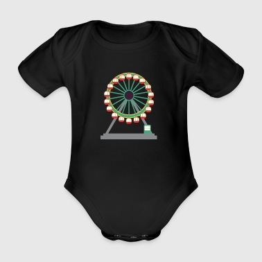 Ferris wheel - Organic Short-sleeved Baby Bodysuit