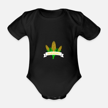 Farming Farm - farm - Organic Short-Sleeved Baby Bodysuit