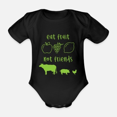 Lifestyle Vegan animal protection saying gift - Organic Short-Sleeved Baby Bodysuit