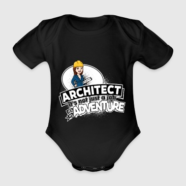 Female Architect - Adventure - Organic Short-sleeved Baby Bodysuit