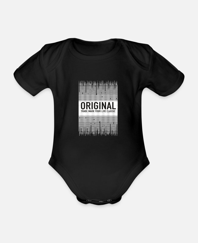 Text Baby Bodysuits - ORIGINAL - Organic Short-Sleeved Baby Bodysuit black