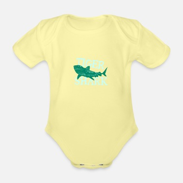 Grandpa Fish Tiger Shark Danger Diver Gift - Organic Short-Sleeved Baby Bodysuit